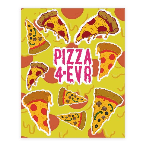 Pizza Sticker/Decal Sheet