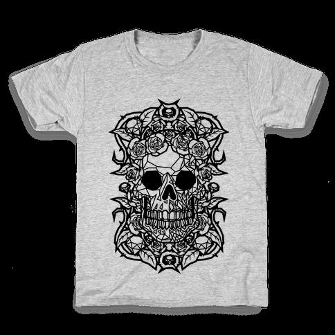 Punk Diamond Skull Kids T-Shirt