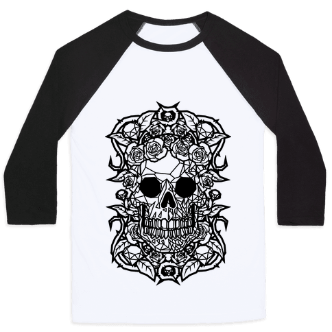 Punk Diamond Skull Baseball Tee