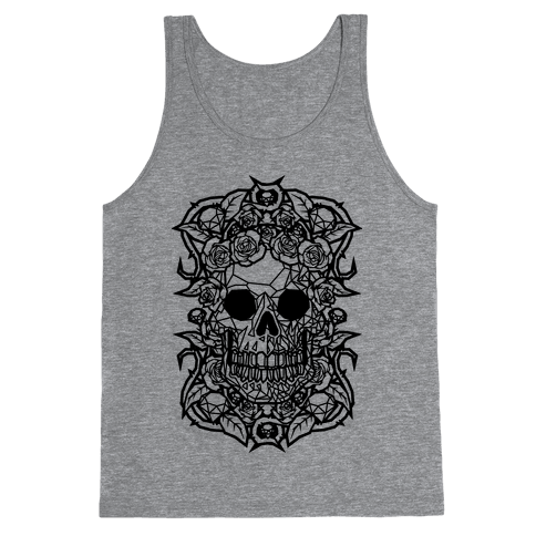 Punk Diamond Skull Tank Top
