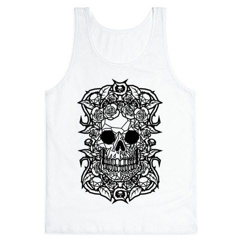 Punk Diamond Skull Tank Top