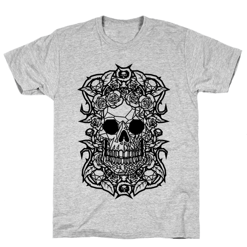 Punk Diamond Skull Mens T-Shirt
