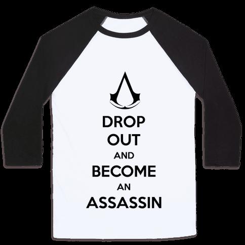 Become An Assassin Baseball Tee