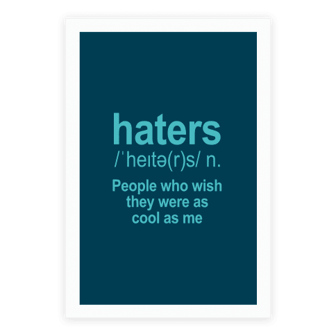 Haters Definition Poster