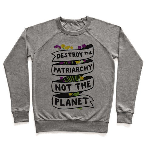 Destroy The Patriarchy Not The Planet Pullover