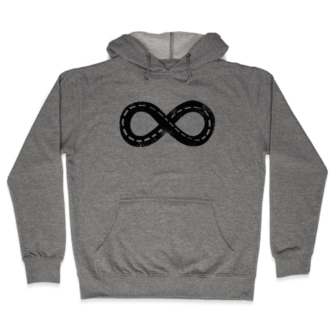 Drive Forever (Road Infinity Symbol) Hooded Sweatshirt