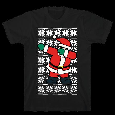 Dabbing Santa  Mens T-Shirt