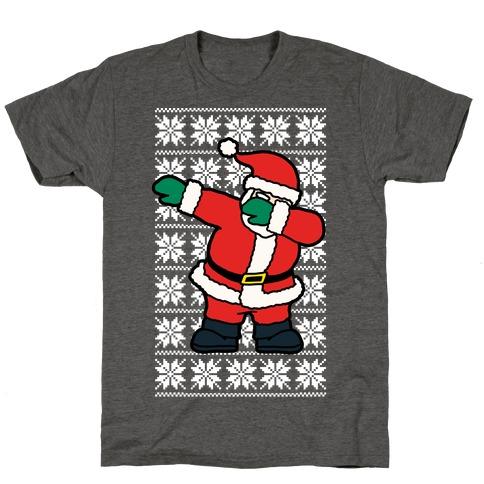 Dabbing Santa Mens/Unisex T-Shirt