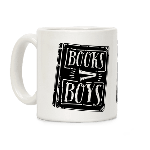 Books Greater Than Boys Coffee Mug