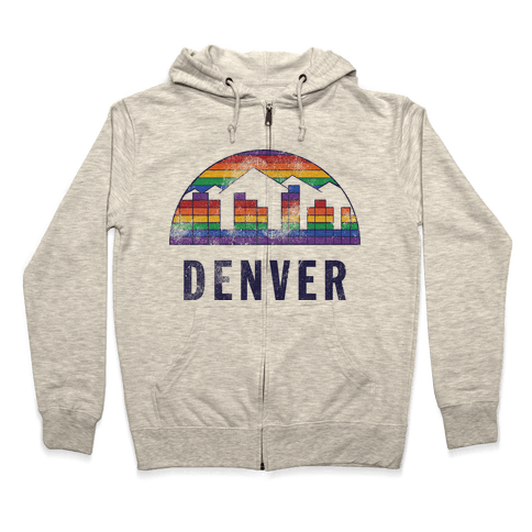 Denver (Vintage) Zip Hoodie