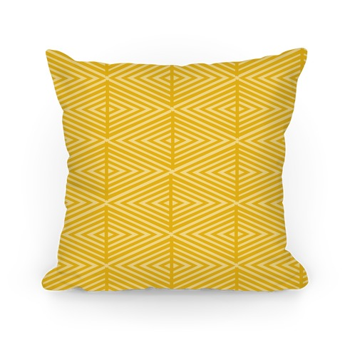 Yellow Geometric Diamond Pattern