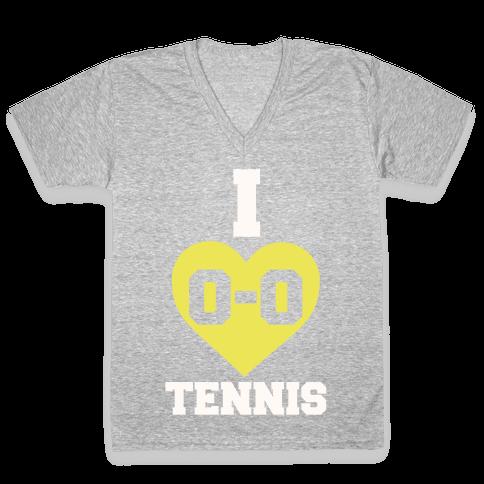 I 0-0 Tennis V-Neck Tee Shirt