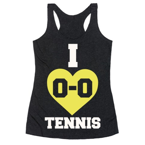 I 0-0 Tennis Racerback Tank Top