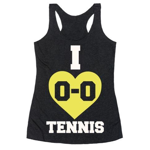 I 0-0 Tennis Racerback Tank Top
