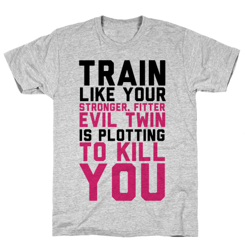 Stronger, Fitter Evil Twin Mens T-Shirt