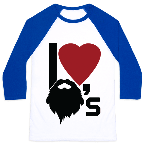 Beard Love Baseball Tee
