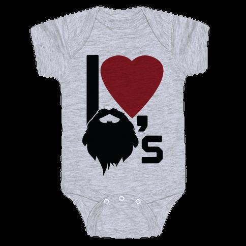 Beard Love Baby Onesy