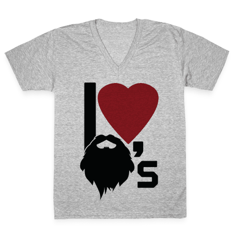 Beard Love V-Neck Tee Shirt