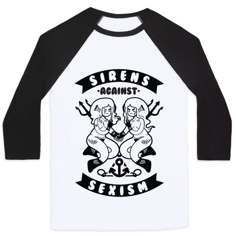 Sirens Against Sexism Baseball Tee