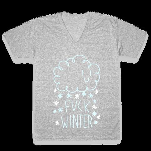 F*** Winter V-Neck Tee Shirt