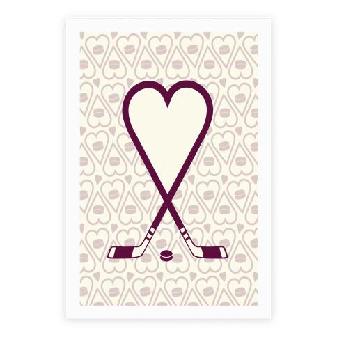 Hockey Love Poster