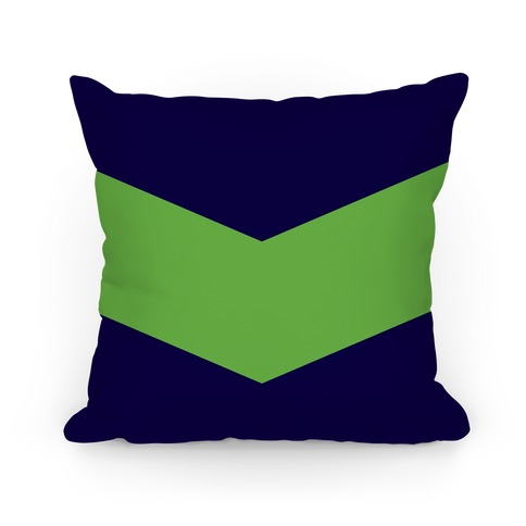 Green Chevron Stripe Pillow Pillow