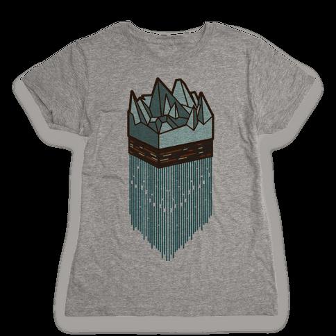 3d Ice Slice Womens T-Shirt