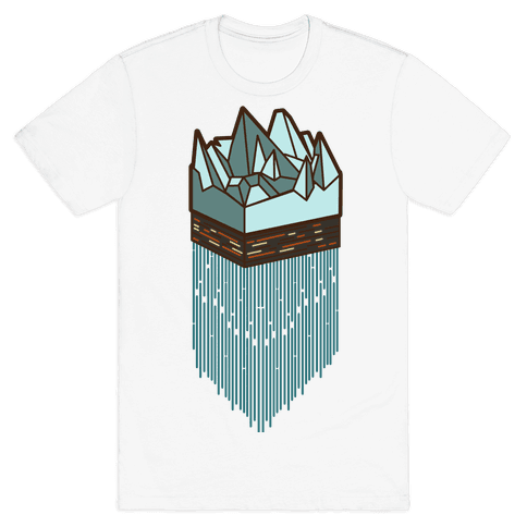 3d Ice Slice Mens T-Shirt