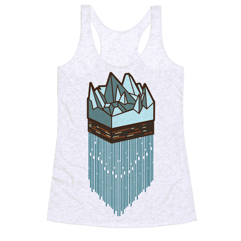 3d Ice Slice Racerback Tank Top