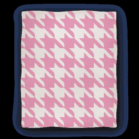 Pink Houndstooth Blanket