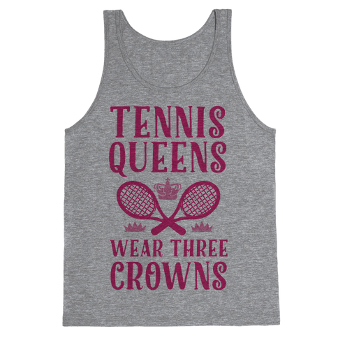 Tennis Queens Wear Three Crowns Tank Top