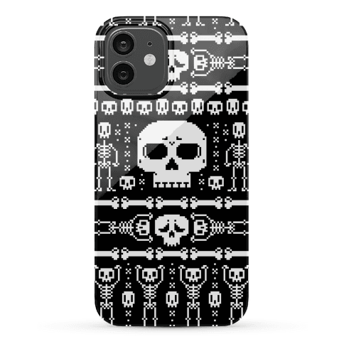 Ugly Skeleton Sweater Pattern Phone Case