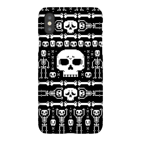 Ugly Skeleton Sweater Pattern Phone Case