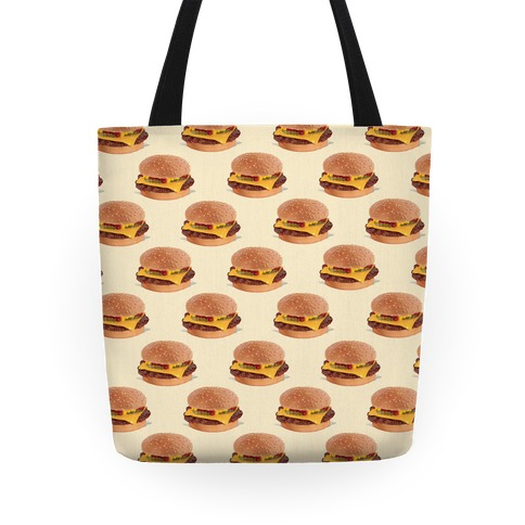 Cheeseburger Pattern Tote