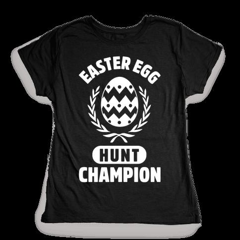 Easter Egg Hunt Champion Womens T-Shirt