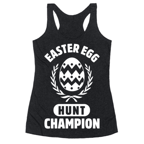 Easter Egg Hunt Champion Racerback Tank Top