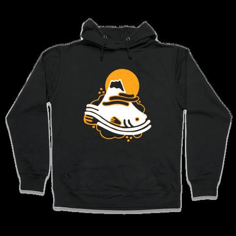 Mount Fuji Fish Hooded Sweatshirt