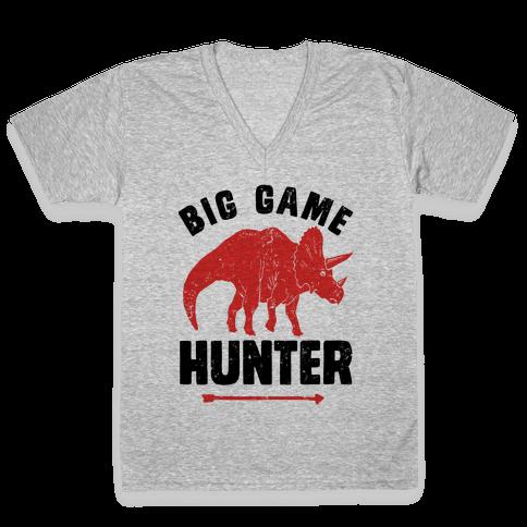 Big Game Hunter V-Neck Tee Shirt