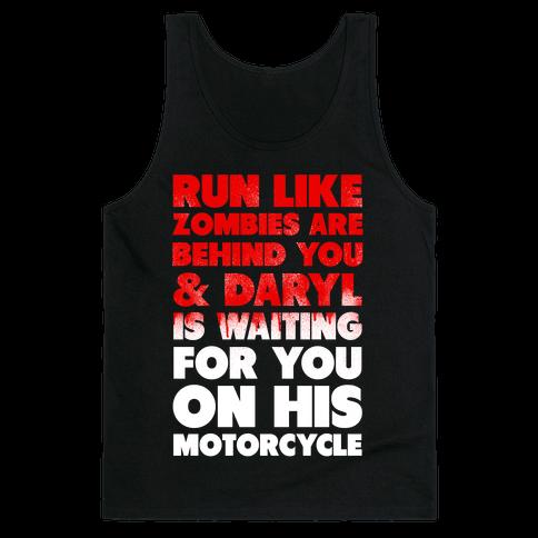 Run Like Daryl is Waiting (Bloody) Tank Top