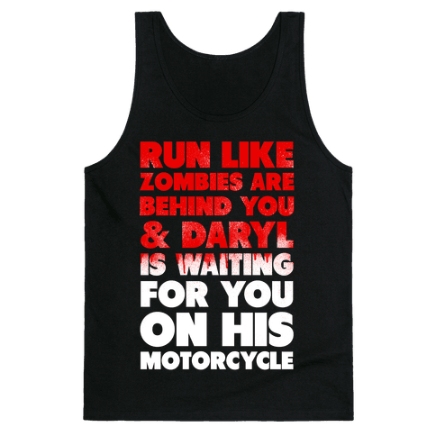 Run Like Daryl is Waiting (Bloody) Tank Top