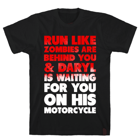 Run Like Daryl is Waiting (Bloody) Mens T-Shirt