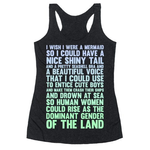 Wish I Was a Mermaid Racerback Tank Top