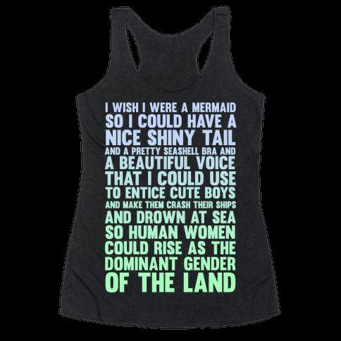 Wish I Was a Mermaid Racerback Tank Top