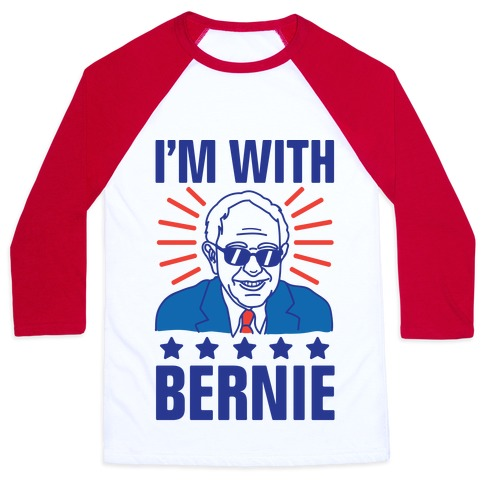 I'm With Bernie Baseball Tee