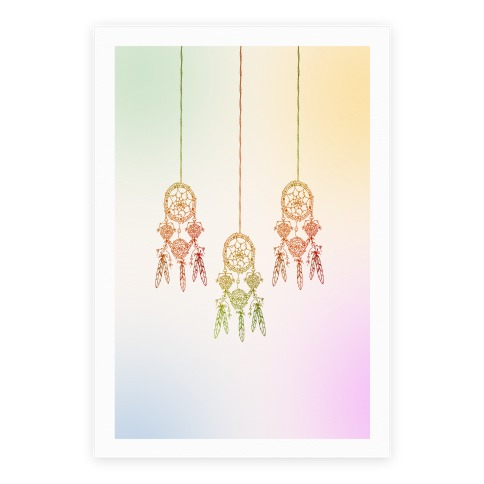 Ombre Dreamcatchers Poster
