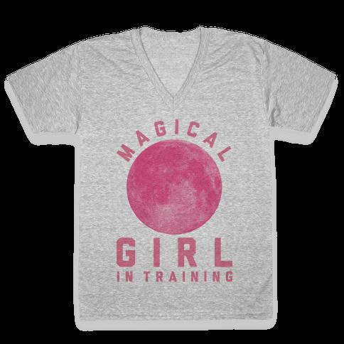 Magical Girl in Training V-Neck Tee Shirt