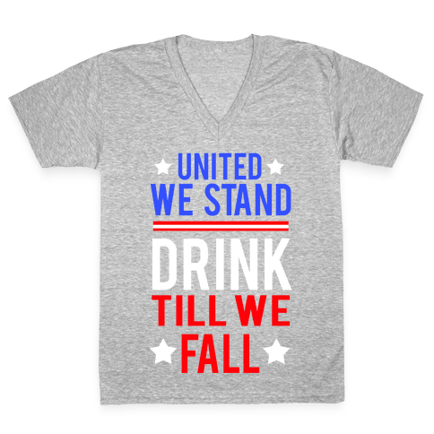 United We Stand V-Neck Tee Shirt