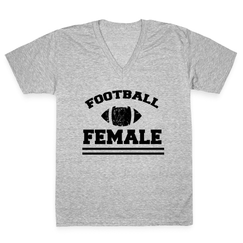 Football Female V-Neck Tee Shirt