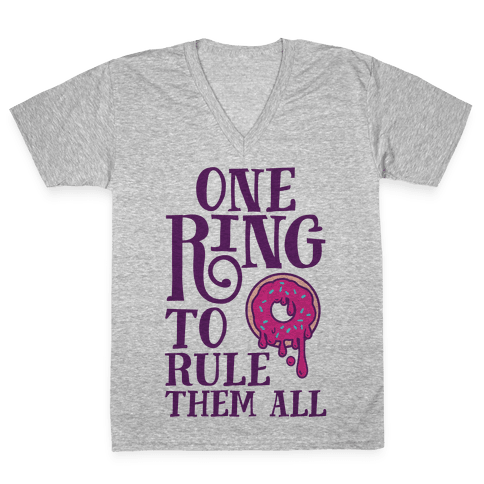 One Ring To Rule Them All V-Neck Tee Shirt