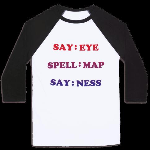 Eye Map Ness Baseball Tee